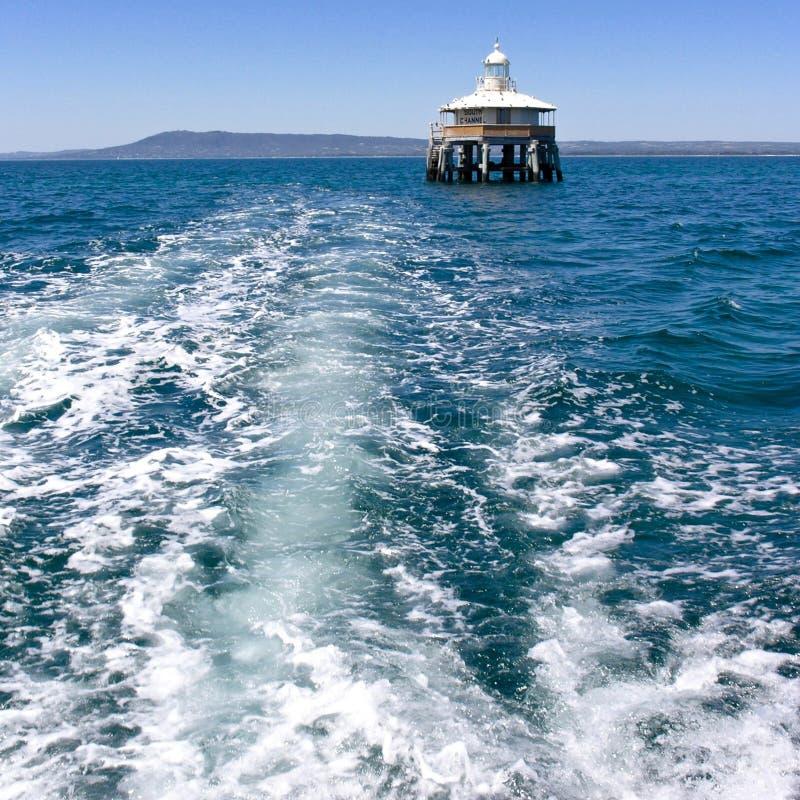 在口岸腓力普海湾的海峡标志 免版税图库摄影