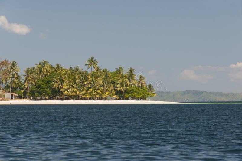 在口岸巴顿,菲律宾附近的珊瑚岛 库存图片