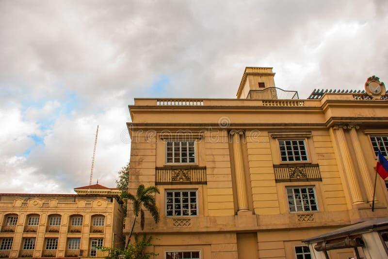 在古典样式的大厦 马尼拉菲律宾 免版税图库摄影