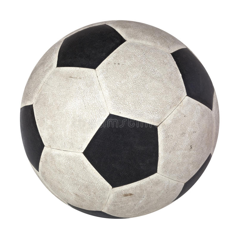 在古典样式皮肤黑白isolat的半新橄榄球 免版税库存照片