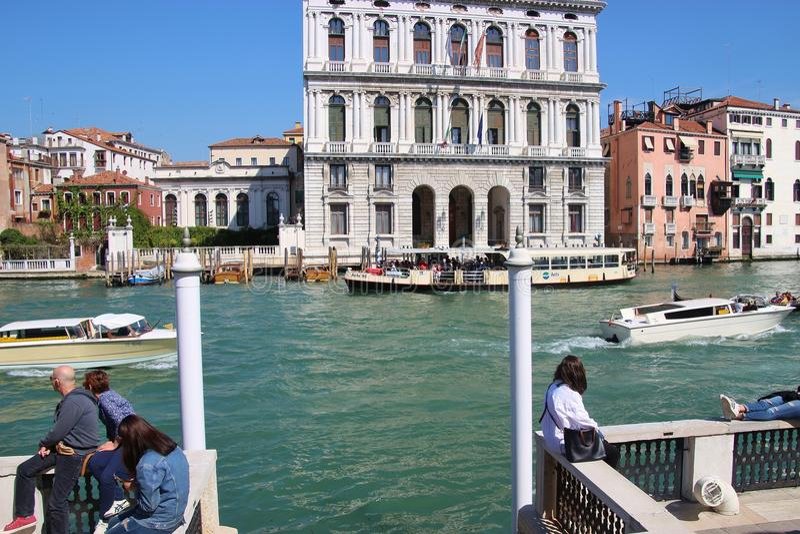 在古根海姆美术馆的大阳台在威尼斯,意大利 图库摄影