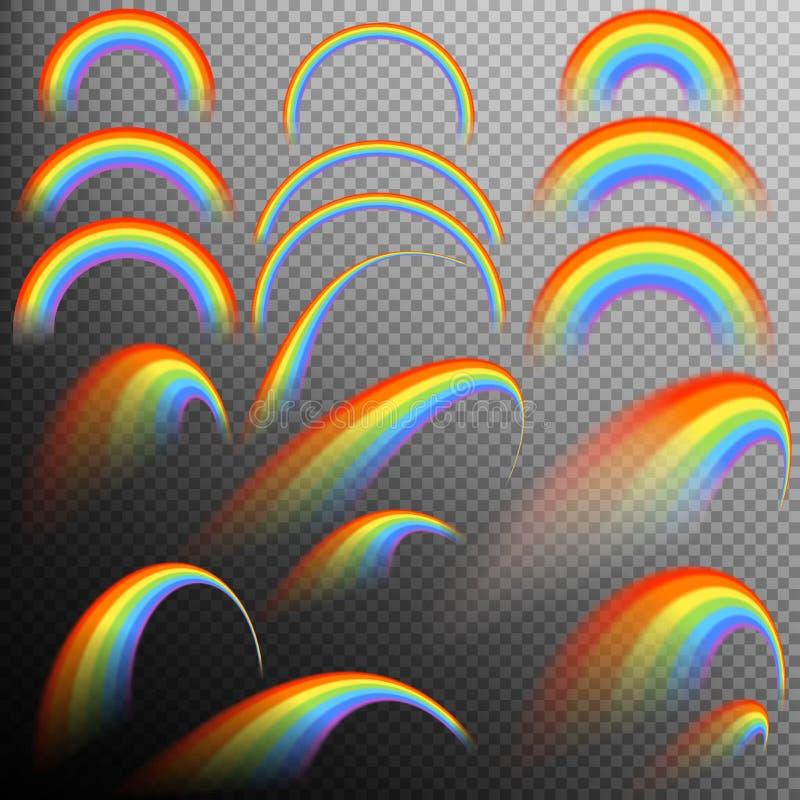 在另外形状现实集合的彩虹 10 eps 皇族释放例证