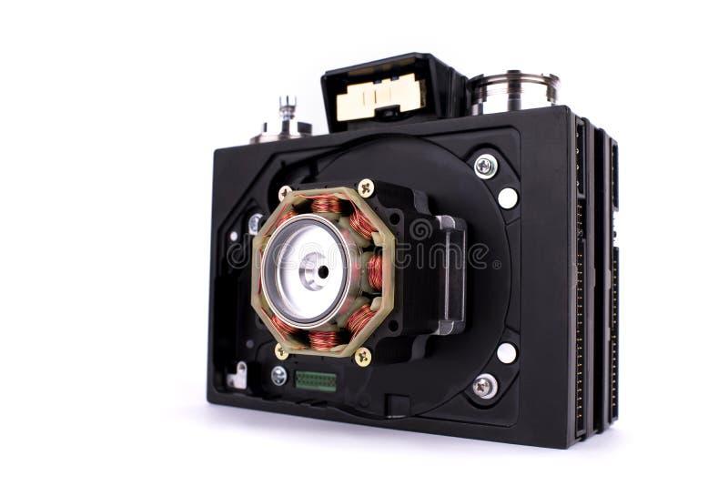 在另外零件和辅助部件用手做的steampunk样式的照相机,集合 库存图片