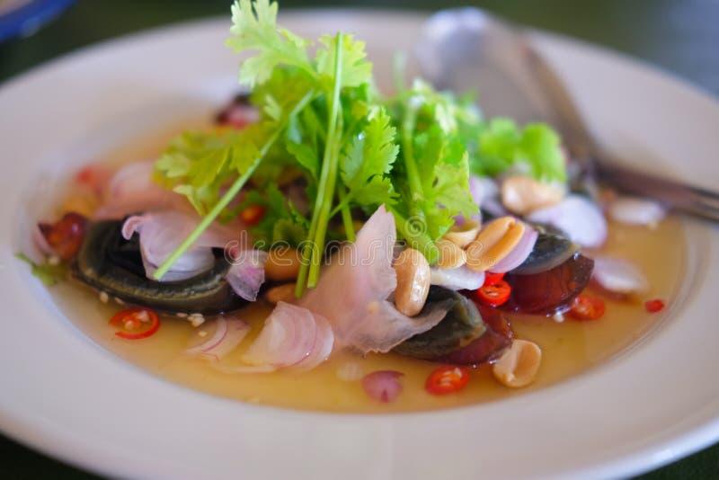 在叫的` kai yeaw ma `的泰国食物 库存照片