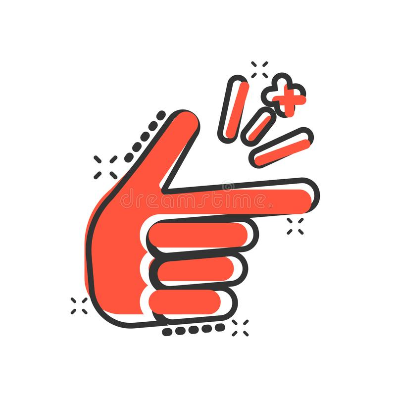 在可笑的样式的手指短冷期象 手指表示传染媒介动画片例证图表 短冷期姿态企业概念飞溅 库存例证