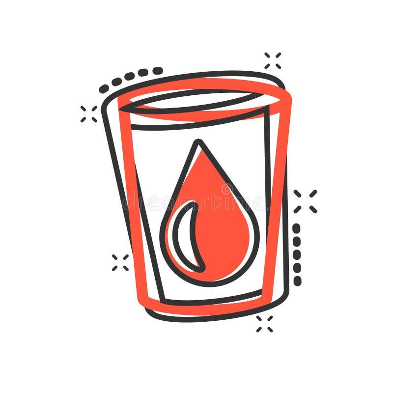 在可笑的样式的水玻璃象 苏打玻璃传染媒介动画片例证图表 小滴水一滴企业概念飞溅 皇族释放例证