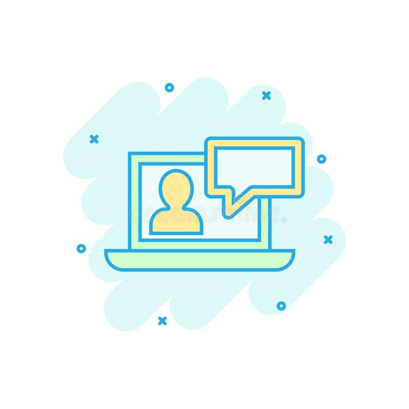 在可笑的样式的网上训练处理象 Webinar研讨会传染媒介动画片例证图表 电子教学企业概念 皇族释放例证