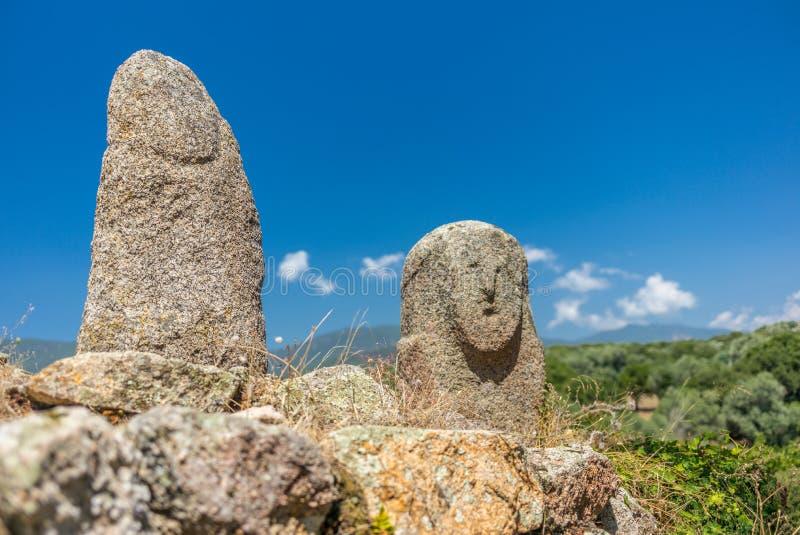 在可西嘉岛小山的史前雕象- 3 库存照片