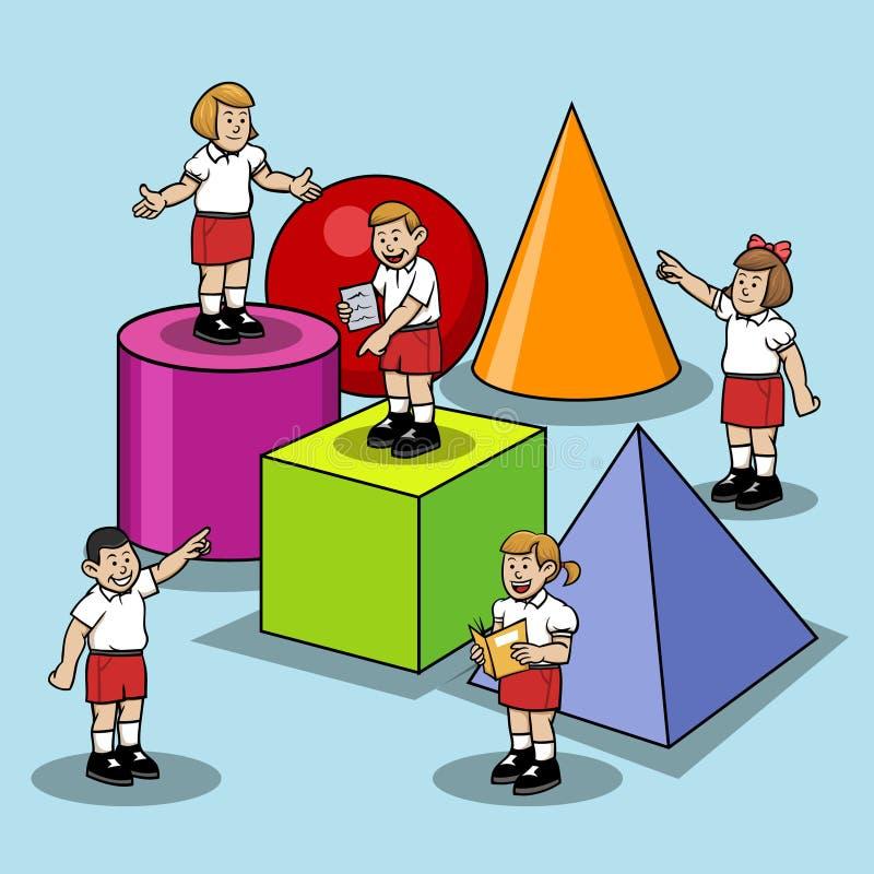 在台中国小学会基本的形状 向量例证