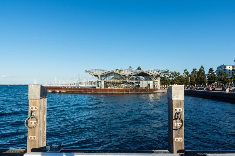 在吉朗江边的转盘在澳大利亚 库存照片