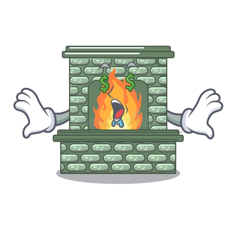 在吉祥人隔绝的金钱眼睛豪华壁炉 向量例证