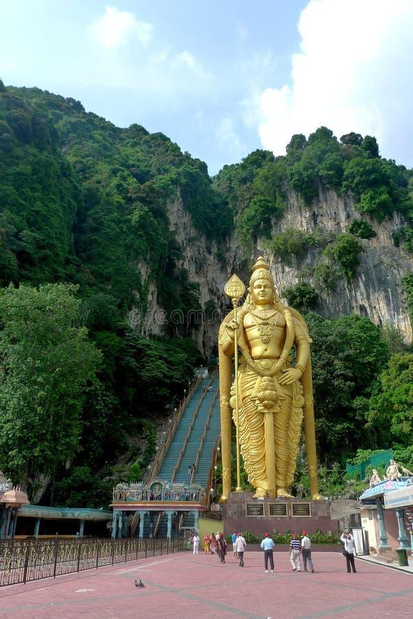 在吉隆坡,马来西亚附近的Batu洞 库存照片