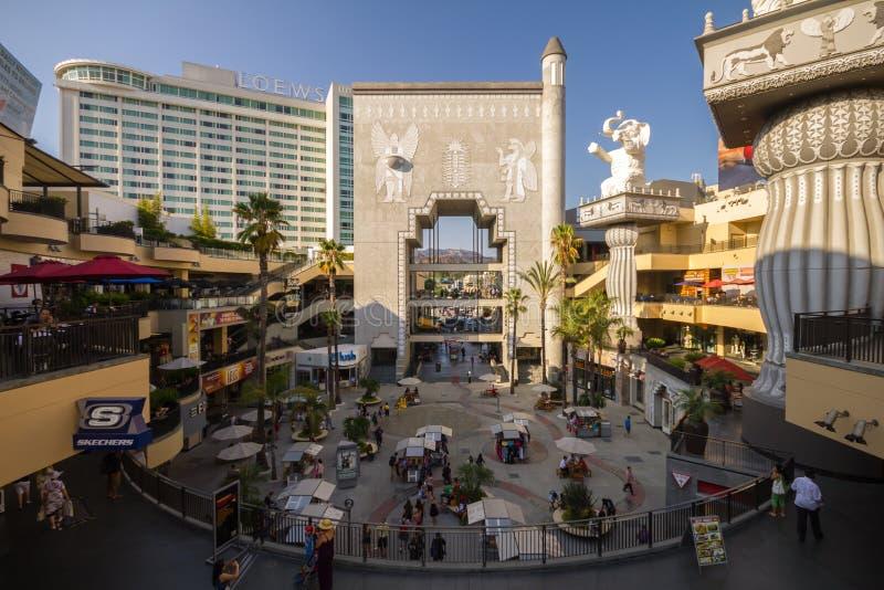 在名望步行,好莱坞的购物中心 免版税图库摄影