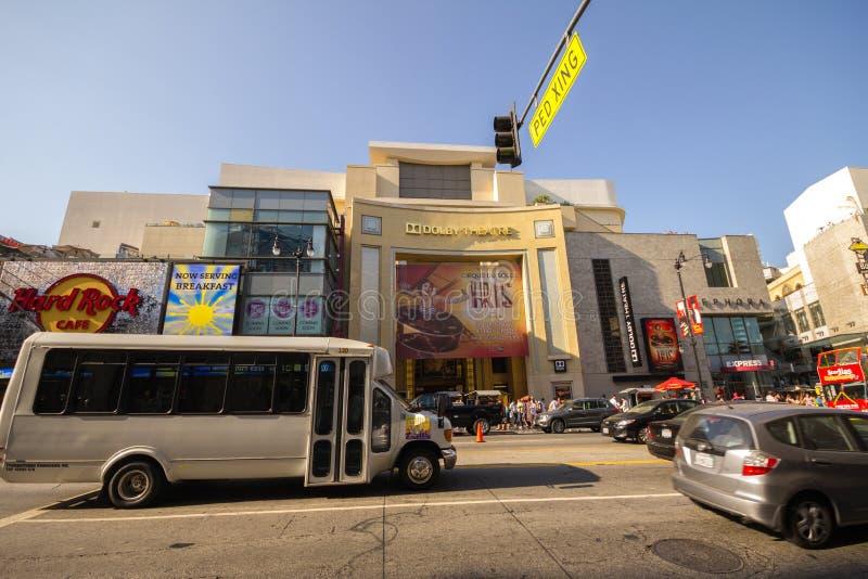 在名望著名步行在好莱坞 库存照片