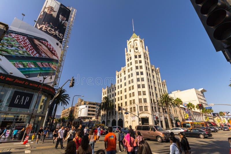 在名望著名步行在好莱坞 免版税库存图片