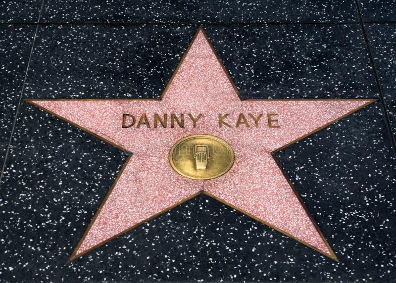 在名望Hollwyood步行的丹尼Kaye星  库存照片