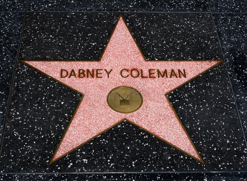 在名望Hollwyood步行的Dabney科尔曼星  库存照片
