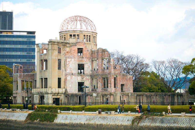 在和平纪念公园,广岛,日本的原子弹圆顶 库存图片