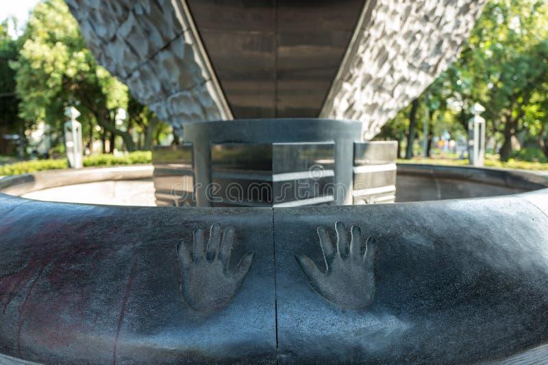 在和平Memorialpark的艺术在台北,台湾 库存照片