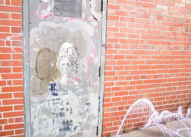 在哈利法克斯加拿大街道上找到的独特的街道画  图库摄影