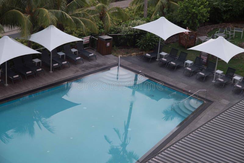 在哈密尔顿岛,澳大利亚的水池 库存照片