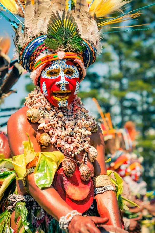 在哈根展示的音乐在巴布亚新几内亚 免版税库存照片
