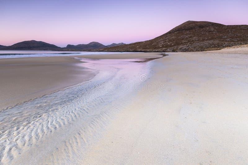 在哈里斯小岛的Luskentyre海滩在埃利安锡尔 库存照片
