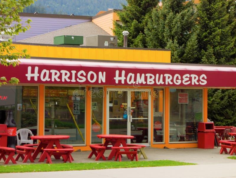 在哈里逊温泉城,加拿大的普遍的汉堡中止 免版税图库摄影