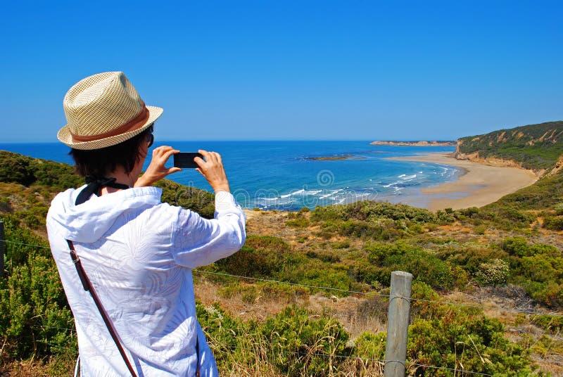 响铃海滩伟大的海洋路 库存照片