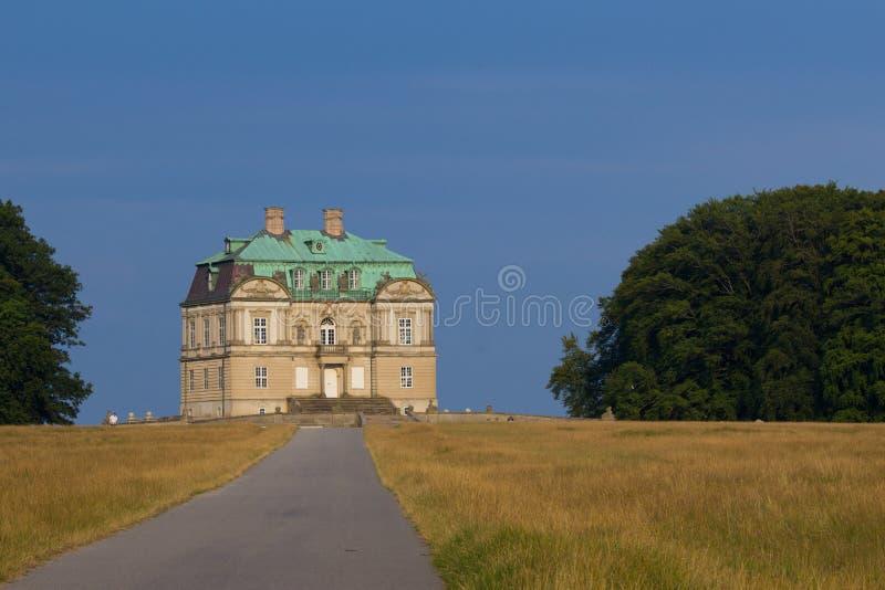 在哥本哈根附近的Eremitage宫殿 免版税库存图片