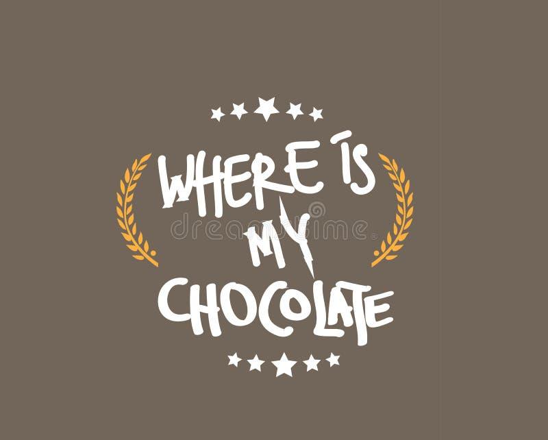 在哪里我的巧克力 库存例证