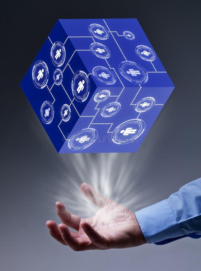 在商业的社会网络连接 免版税库存照片