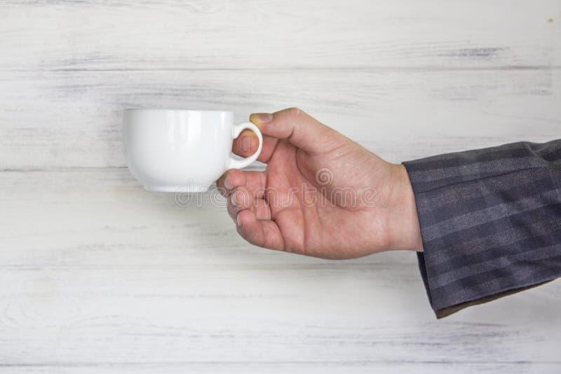 在商人` s的杯 免版税库存图片