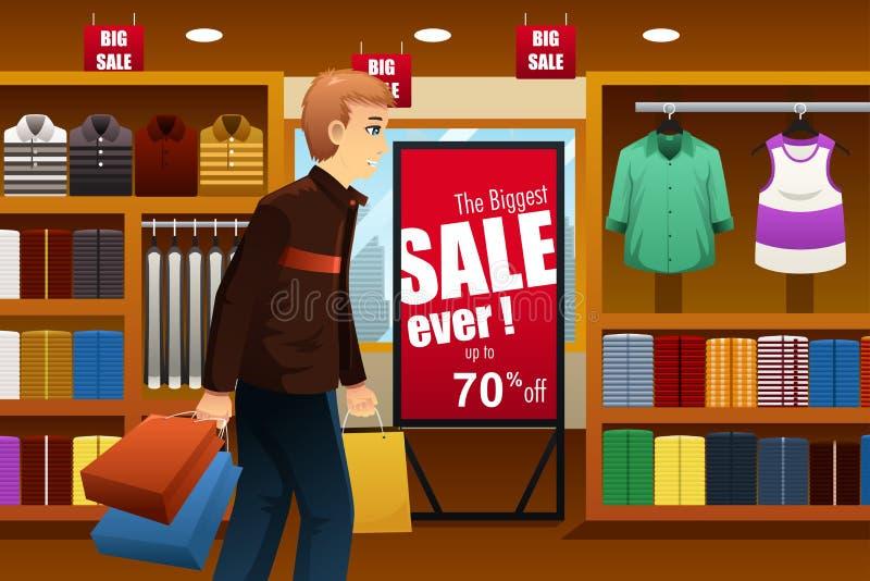 在商城的人购物 向量例证