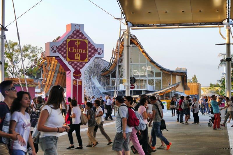 在商展2015年米兰的中国pavillion 库存图片