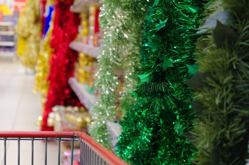 在商店买圣诞节诗歌选 库存图片