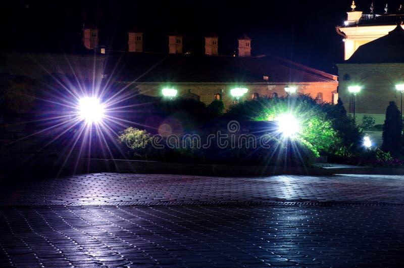 在喀山克里姆林宫里面的灯笼 免版税库存图片