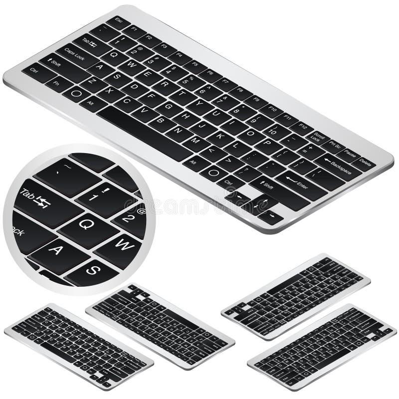 在四投射的VeÑ 突岩等量键盘象 对infographics或等量设计 库存例证