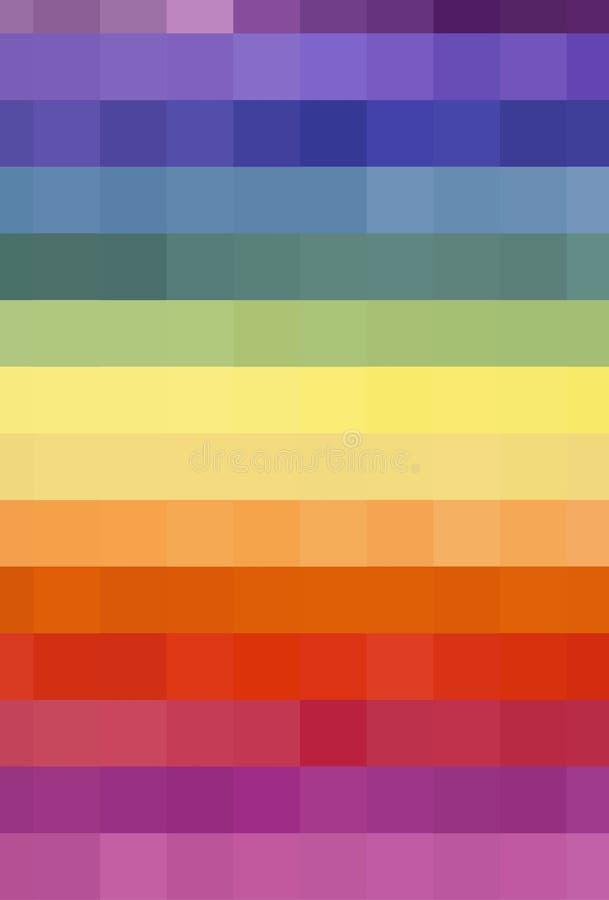 在四边形样式的五颜六色的背景 库存照片