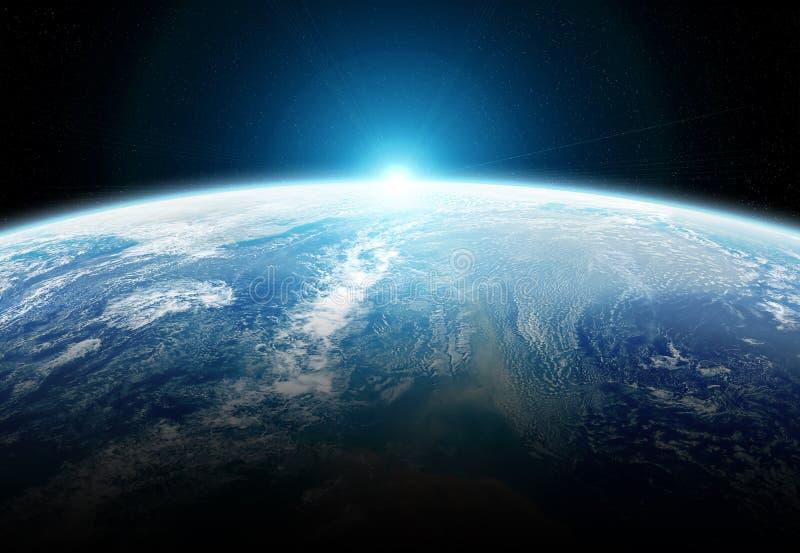 在回报这个图象的元素地球3D的全球性数据交换和连接系统由美国航空航天局装备了 皇族释放例证