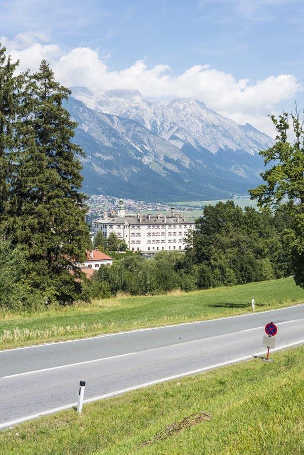在因斯布鲁克,奥地利附近的Ambras城堡。 免版税库存图片