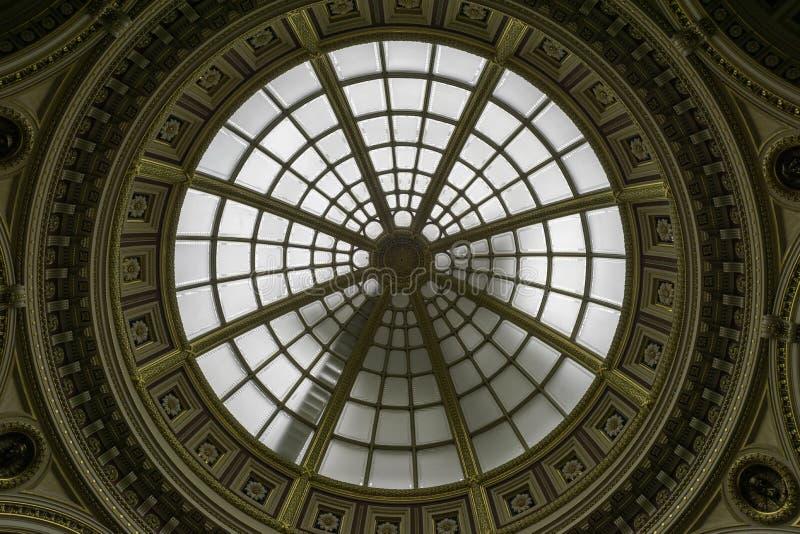 在国家肖像馆的天花板 免版税库存图片