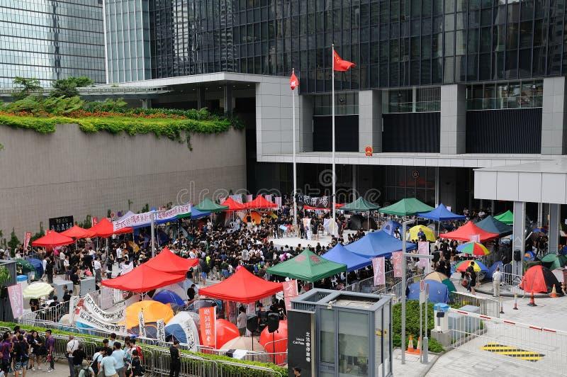 在国民教育的Stirke在香港 免版税图库摄影