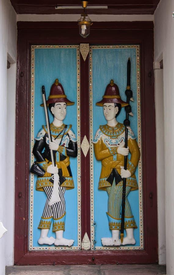 在国王的Palace的门 图库摄影