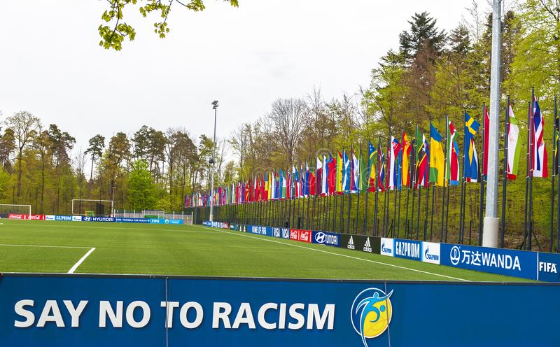 在国际足球联合会总部 免版税图库摄影