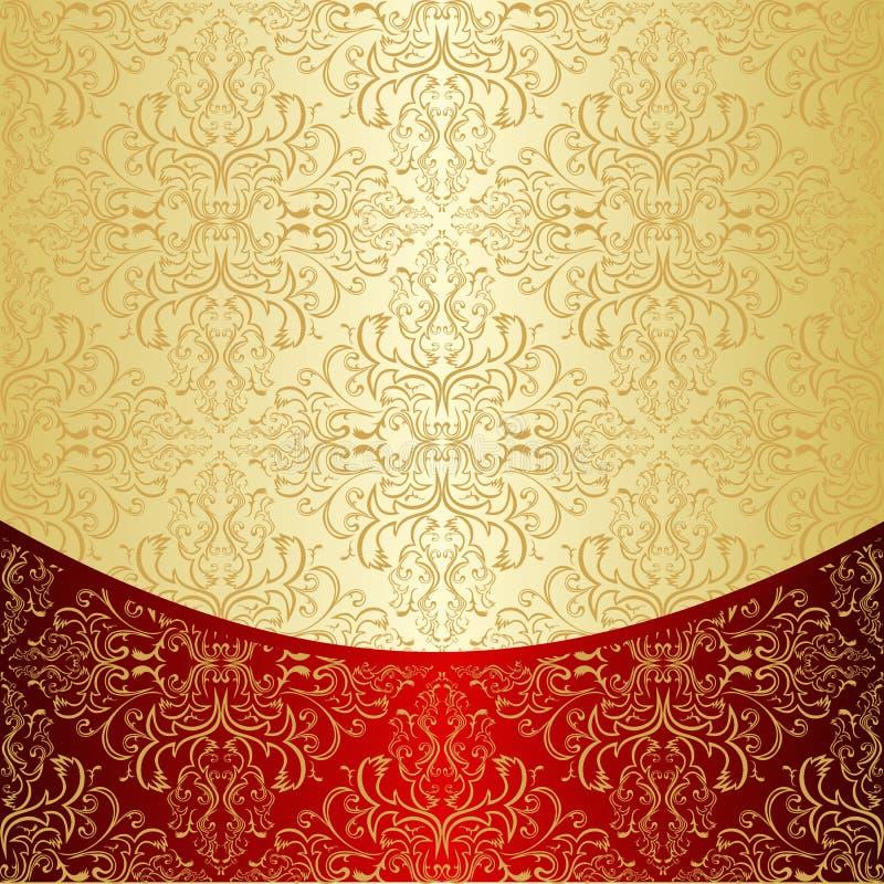 豪华背景装饰了一个金样式。 皇族释放例证