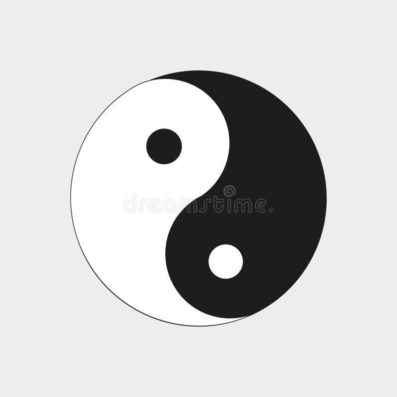 在图片标志是yin和杨 库存例证