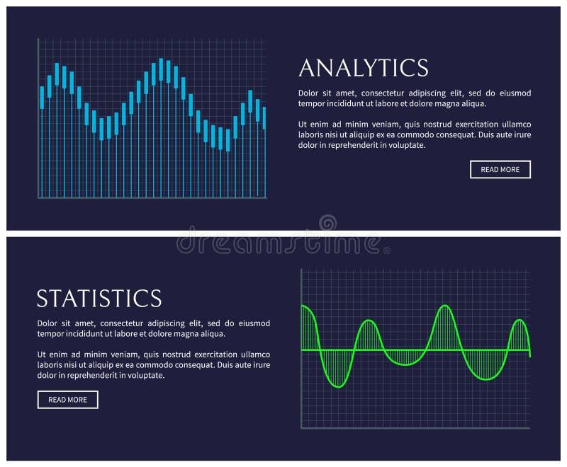 在图表显示的逻辑分析方法和统计数据 库存例证