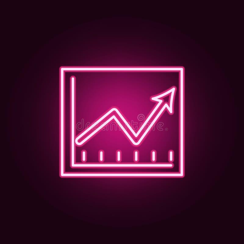 在图霓虹象的财政显示 银行业务集合的元素 网站的简单的象,网络设计,流动应用程序,信息图表 向量例证