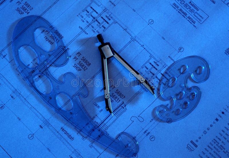 在图画计划的分切器 免版税库存照片